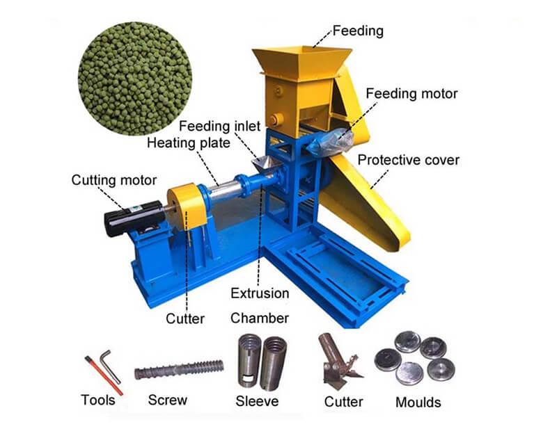 floating feed pellet machine
